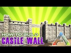 This is a quick tutorial for a castle style defence wall. This Ark build guide will walk you through the steps involved in building this Super cool looking w. Ark Video Game, Game Ark, Video Games, Raft Building, Building Ideas, Building Plans, Ark Survival Evolved Tips, Evolve Ps4, Ark Ps4