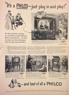 Just plug in and play! Philco's Electronic Built-In Aerial System (1949)