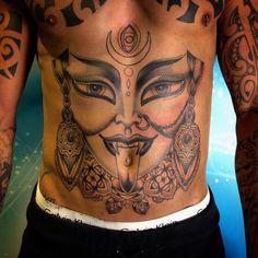 Made some good progress on this today cheers @chrisblvck #Kali #kalitattoo #fraserpeek #fraserpeektattoo #blackandgrey #stomachtattoo #tattoo #onamissionmachines #tattoome #uktta #tattooworkers