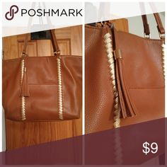Shoulder bag Tan with rope like stripe. Used once. Like new Cato Bags Shoulder Bags
