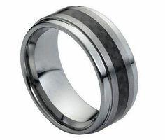 Black Tungsten Ring TR 0789 mm Black Ring  Black by TungstenShop, $48.00