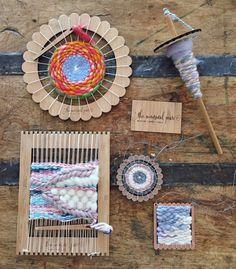 Telar de tejer de bambú pequeña por TheUnusualPear en Etsy