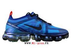 03fd8afb495 Nike Air VaporMax 2019 Run Coussin Dair Classique Pas cher Homme Bleu Noir  AR6631-400