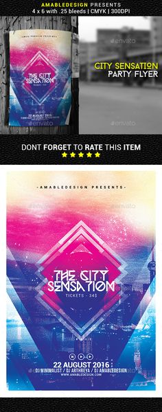 City Sensation Flyer / Poster Template PSD. Download here: https://graphicriver.net/item/city-sensation-flyerposter/16965472?ref=ksioks