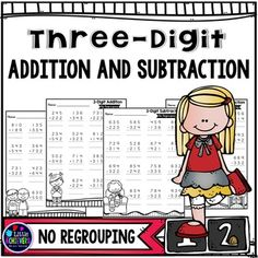 3-Digit Addition and Subtraction NO REGROUPING