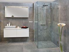 AP Concrete Fuse med INR Arc Victoria dusj og - Lilly is Love Interior Blogs, Beaumont Tiles, Floor Texture, Wood Vanity, Duravit, Grey Bathrooms, Home Renovation, Tall Cabinet Storage, Concrete