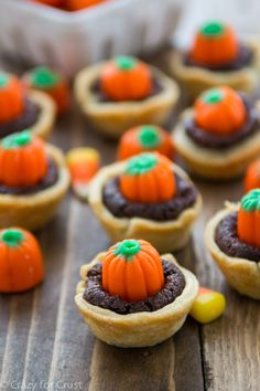 Pumpkin Patch Brownie Pies