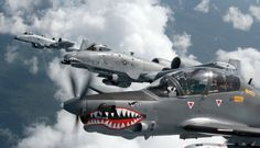 The Aviationist » Sharkmouths! U.S. A-10 Warthogs and Colombian Air Force A-29B…