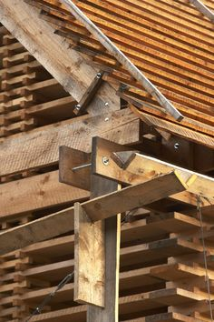 Idea Stodola Krňany/Barn Krnany in Krňany, Czech Republic Architecture Tools, Detail Architecture, Timber Architecture, Amazing Architecture, Structural Model, Mud House, Timber Roof, Timber Structure, Wood Joints