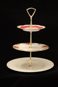3 Tier Stand Dessert Tray Cake Cupcake Stand by TeaAtTheBrits