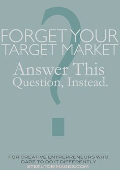 When you describe your target market using ho-hum demographics, you fail. Here's why and the question you should be answering, instead… (via Steel Toe Images)