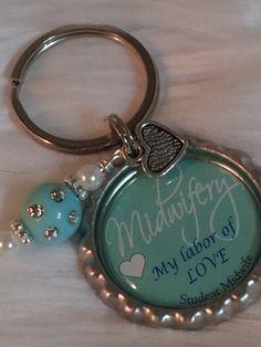 MIDWIFE keychain DOULA Midwifery Student Midwife by HAZELCOVE, $10.00