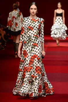 Dolce-and-Gabbana Spring-2015 polka-dots dress