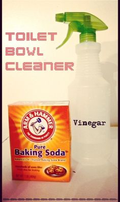 DIY/Home-Made Toilet Bowl Cleaner! The EASIEST recipe you'll ever try! Only requires TWO ingredients from your pantry. #diyconfessions #greencleaning