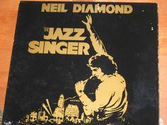 Classic Rock Star Neil Diamond 33 1/3 Vinyl Record/Neil Diamond Vintage Vinyl Album/The Jazz Singer Motion Picture Record/Capitol Label