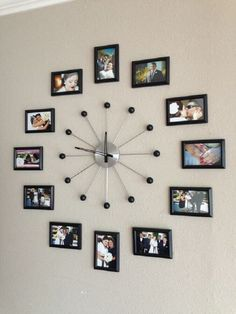 unique wall decor ideas with clocks 36 ~ mantulgan.me unique wall decor ideas with clocks 36 ~ mantulgan. Frame Wall Collage, Collage Picture Frames, Frames On Wall, Photo Collages, Picture Wall, Collage Ideas, Big Picture, Picture Ideas, Collage Collage