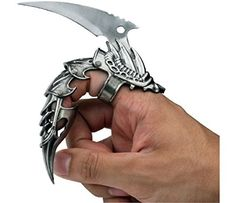Iron Reaver Stainless Steel Finger Claw (Blackened Silver... https://www.amazon.com/dp/B01LPPORWA/ref=cm_sw_r_pi_dp_x_RYTvybZNJH984