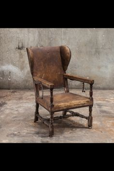 Arthur Old World Chesterfield Style Wingback Leather Recliner For Home Office Prayer Chair