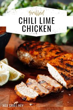 This Grilled Chili Lime Chicken is up there on our weekly menu rotation all year long. Bright flavors of lime, chili powder, green chile, and fresh cilantro make the most delicious marinade and the slight char from the grill really brings it all together. Bbq Recipes Sides, Best Bbq Recipes, Grilling Recipes, Traeger Recipes, Favorite Recipes, Meat Recipes, Dinner Recipes, Chili Lime Chicken, Lime Chicken Recipes