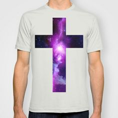 Galaxy Cross T-shirt by Nestor2 - $22.00