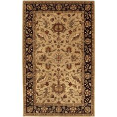 Surya Crowne CRN6007 Classic Hand Tufted 100 Wool Dark Khaki 2 x 3 Traditional Accent Rug *** Details can be found by clicking on the image.