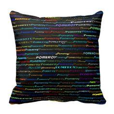 Pomeroy Text Design I Throw Pillow