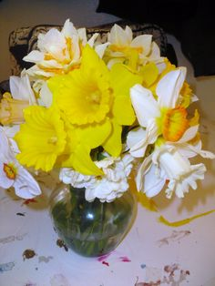 Practice arrangement.. different kinds of Daffodils <3   April 10th, 2012