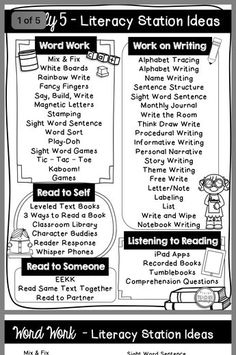 Guided Reading and ELA Centers in Grade! Guided Reading Activities, Guided Reading Lessons, Kindergarten Reading, Reading Strategies, Teaching Reading, Teaching Ideas, Daily 5 Activities, Teaching Supplies, Reading Resources