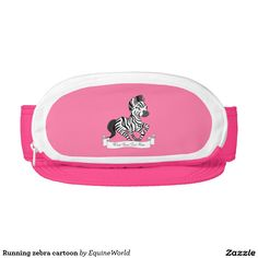 Running zebra cartoon visor