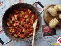 Pollo con carciofi al tegame  #ricette #food #recipes