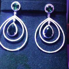 Green Crome Turmaline#earrings #handmade #handmadejewelry #jewellery #jewelry #creative #gorgeous #love #design #womenwear #womenstyle #beyourself #successful #success #you #gregorysjoaillier #diamond #diamonds #madeinberlin #justforyou #onlyone #onlythebest