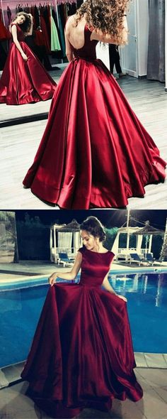 Long Satin Backless Prom Dresses Ball Gowns Evening Dresses Maroon prom dresses ballgowns,satin evening dress,backless prom dressesLong Long may refer to: Ball Dresses, Women's Dresses, Nice Dresses, Formal Dresses, Party Dresses, Wedding Dresses, Trendy Dresses, Elegant Dresses, Elegant Outfit