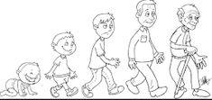 Tall and short Preschool Themes, Preschool Worksheets, Classroom Activities, Human Life Cycle, Mini Canvas Art, Teaching Aids, Human Development, Disney Drawings, Life Cycles
