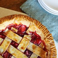 Alton Brown's Frozen Strawberry Pie Recipe ~ Strawberry pie filling whenever you're ready to bake