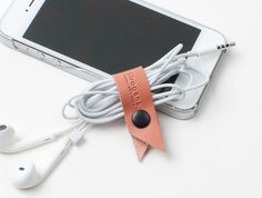 Leather cord cable organiser