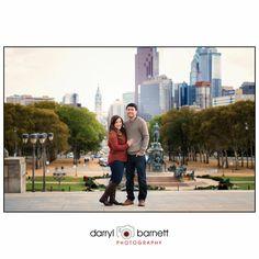 Engagement Shoot at The Philadelphia Art Museum in Philadelphia, Pa.