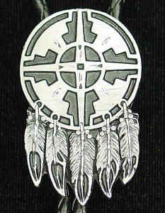 Bolo - Indian Shield (Diamond Cut)