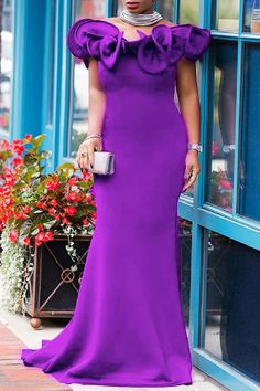 Evening Dresses With Sleeves, Sleeveless Dresses, Purple Fashion, Style Fashion, Sexy Shirts, Purple Dress, Classy Dress, Spring Outfits, Shoes Wholesale