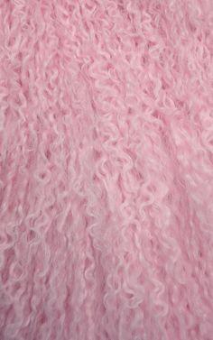 Pink Mongolian Lamb Coat by MSGM for Preorder on Moda Operandi