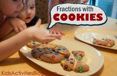 fractions with cookies - the best way to practice these math concepts with kids - or at least my tummy thinks so!