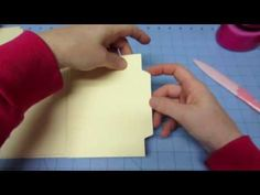 File Folder Mini Tutorial; Part 1 - YouTube   Helen, this is the tutorial I used to make the mimi file folder album.