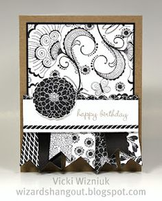 Black/White/Kraft     I love this idea.  I must try something like this one day.