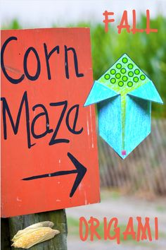 Corn Origami Craft with detailed written and pictured instructions. #halloween #halloweenathome #crafting #teach #learn #fun #Autumn #origami #homeschool Following Directions, Origami Folding, Learning Styles, Make It Work, Different Shapes, Math Centers, Free Items, Fall Crafts, Japanese Art