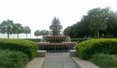 Fountain at the Waterfront in Charleston, South Carolina