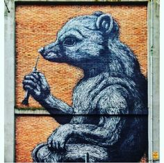 Street Art by Roa, located in Rome