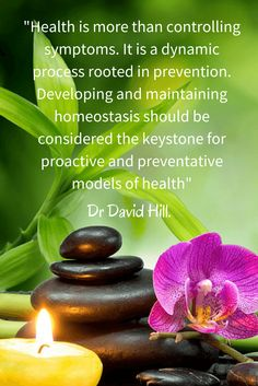"""Health is more than controlling symptoms. It is a dynamic process ..."