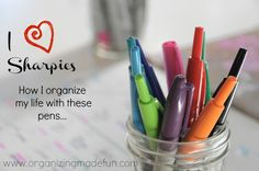 I LOVE Sharpies: How I organize my life with these pens | OrganizingMadeFun.com