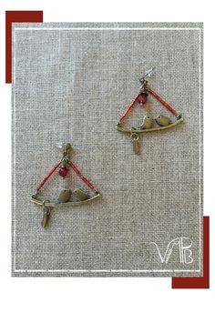 """Puces bronze """"Piou Piou"""" perles Miyuki : Boucles d'oreille par verocrea"""