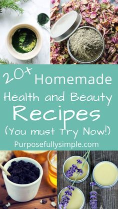 Homemade beauty products are easy and inexpensive to make at home and they are so much better for your health! Check out these awesome recipes plus my favorite ingredients to always have on hand. #homemadebeautyrecipes #homemadehealthandbeauty