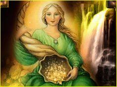 Ángel de la Abundancia,  Ángel poderoso y bondadoso,  concédenos lo que con toda fe pedimos:  tráenos Abundia toda tu abundancia.   Trá...